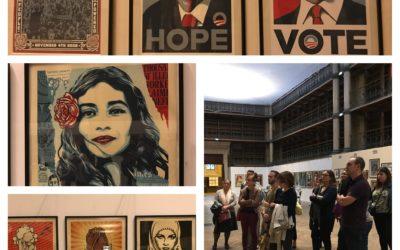 Retour sur la visite de l'Expo OBEY GIANT, 2e street artiste le plus connu au monde